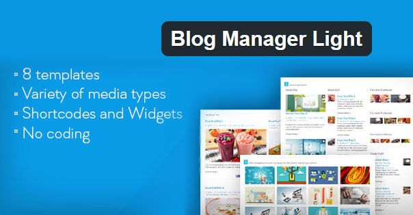 Preview for Blog Manager Light