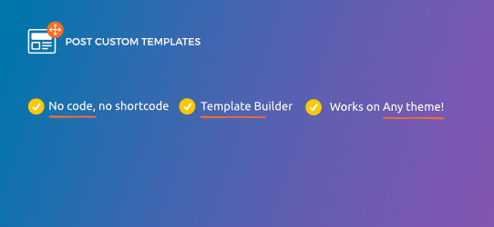 Preview for Post Custom Templates Lite