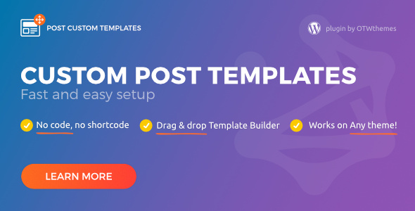 Preview for Post Custom Templates Pro