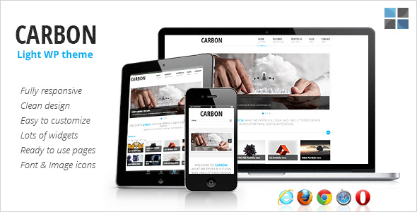 Carbon Light – free Business responsive WordPress theme | OTWthemes.com