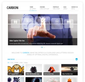 Carbon Site Template