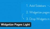 Widgetize Pages Light WordPress plugin